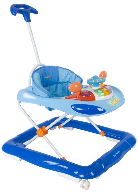 Dětské chodítko – s vodicí tyčí modrá
