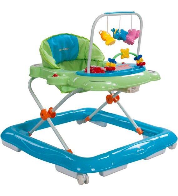 Dětské chodítko Sunbaby Footy 830EUK/1 zelená + modrá