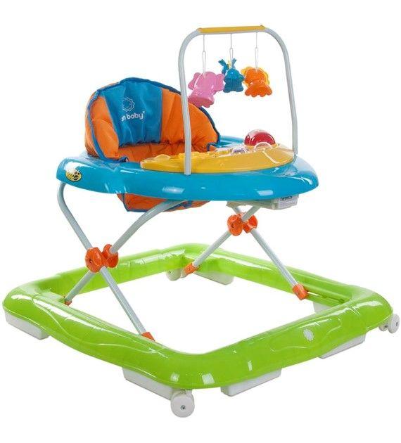 Dětské chodítko Sunbaby lux 850/1 zelená + modrá + oranžová