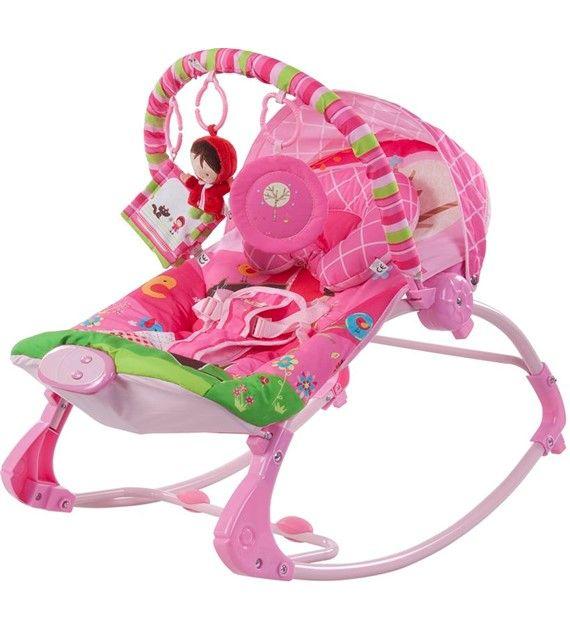 Dětské lehátko s vibracemi a hudebním centrem RK01 růžová holčička