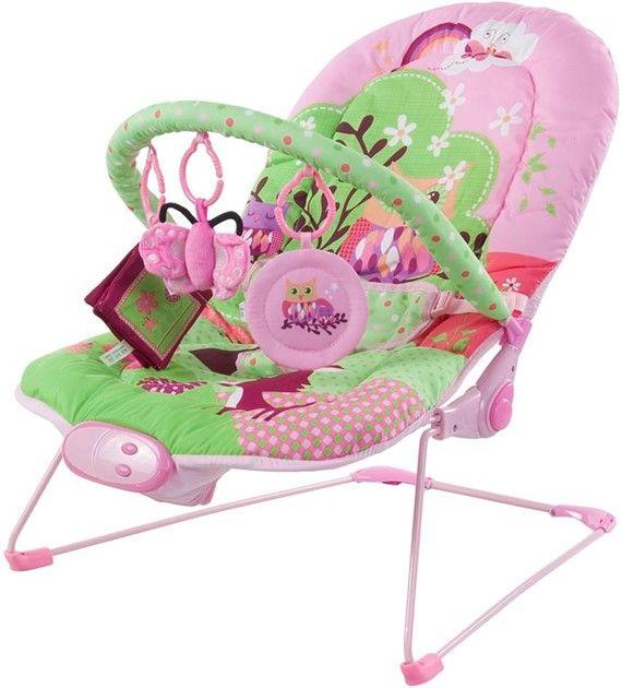 Dětské lehátko Sunbaby s vibracemi růžová sovička