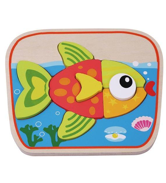 Dřevěné puzzle ryba