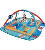 Hrací deka a ohrádka - modrá se zvířátky P00016