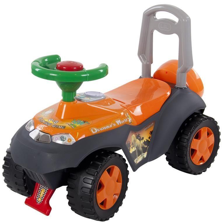 Jeep odrážedlo s melodiemi SP3101 oranžová