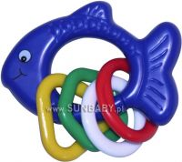 Zobrazit detail - Dětské chrastítko s kroužky rybička