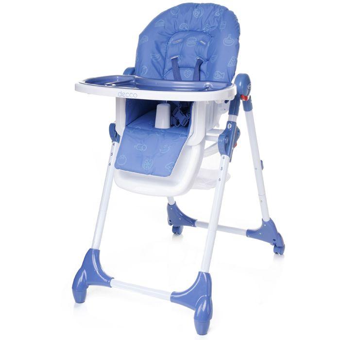 Jídelní židlička 4baby Decco Blue