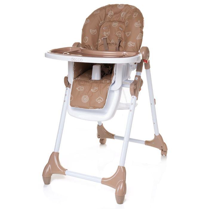 Jídelní židlička 4baby Decco Brown