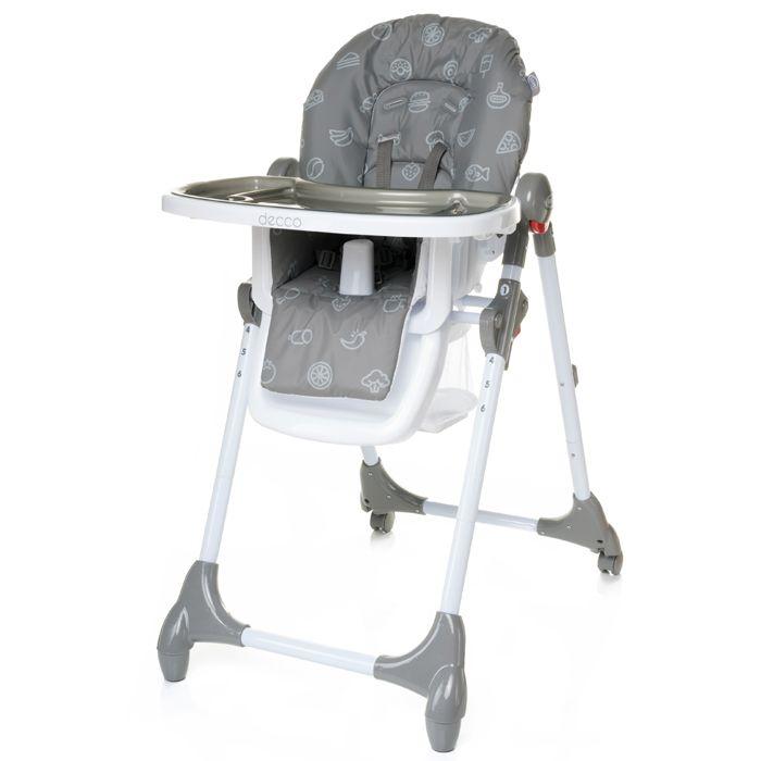 Jídelní židlička 4baby Decco Grey
