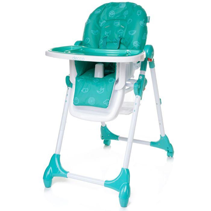 Jídelní židlička 4baby Decco Turkus