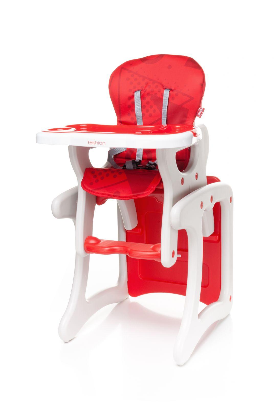 Jídelní židlička 4baby Fashion (2v1 - židlička + stoleček) Red