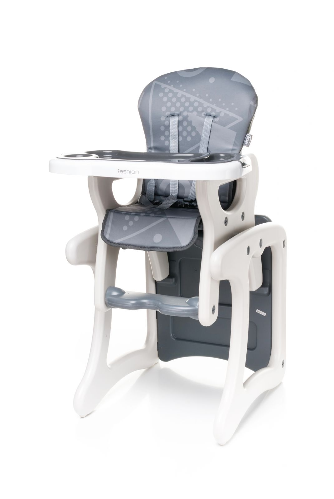 Jídelní židlička 4baby Fashion (2v1 - židlička + stoleček) Grey