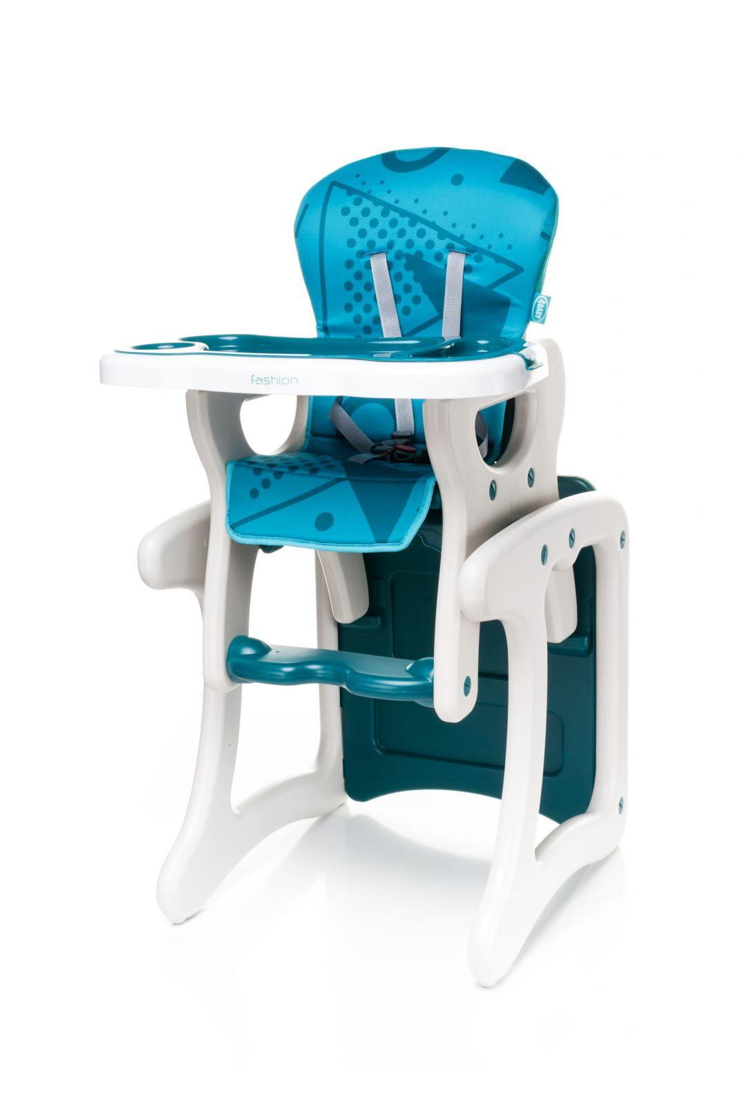 Jídelní židlička 4baby Fashion (2v1 - židlička + stoleček) Turkus