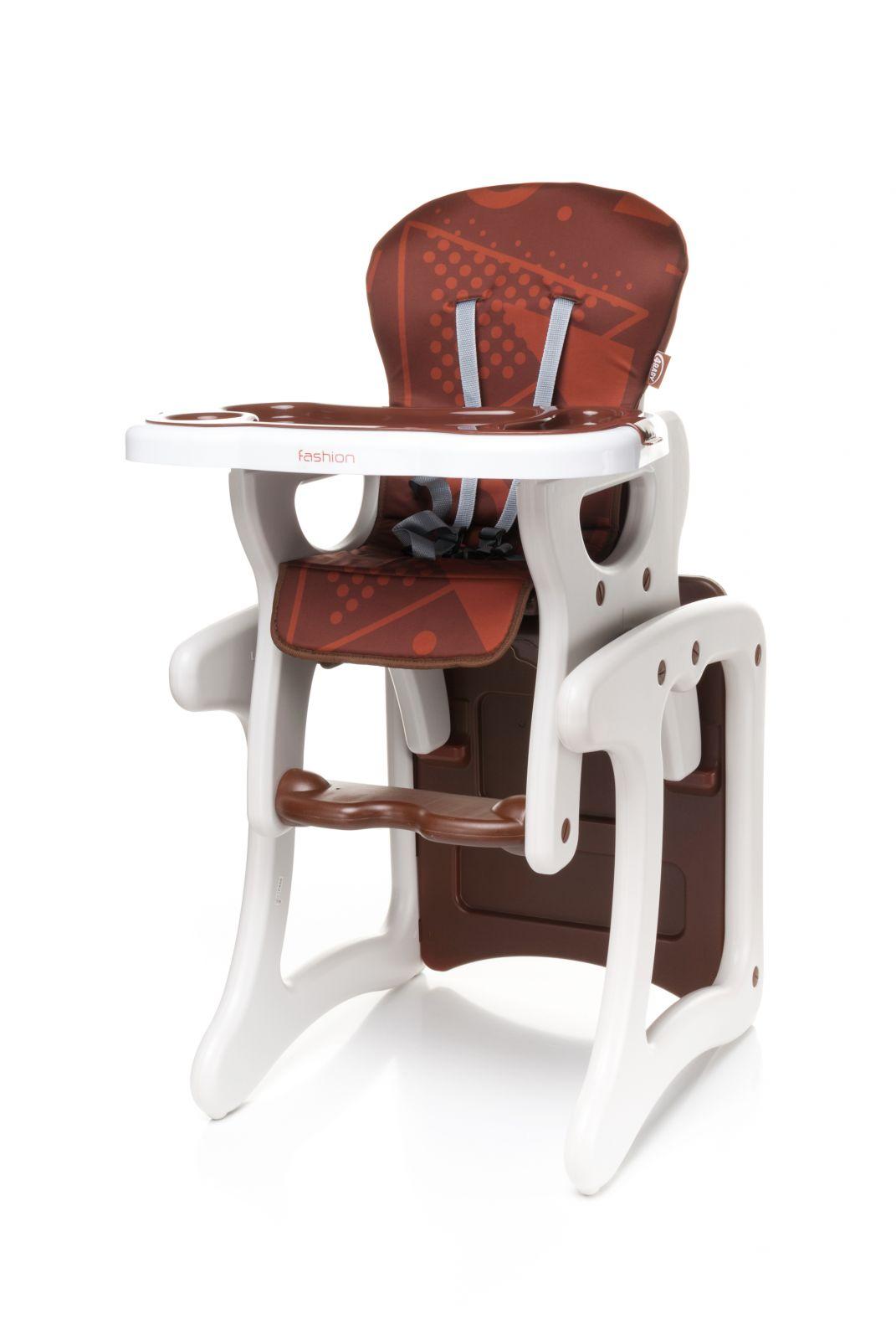 Jídelní židlička 4baby Fashion (2v1 - židlička + stoleček) Brown
