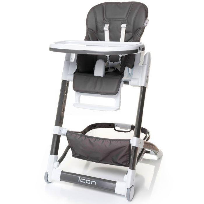 Jídelní židlička 4baby Icon Grey