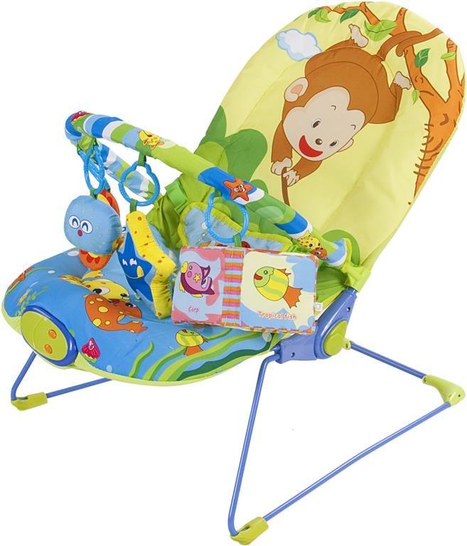 Dětské lehátko Sunbaby s vibracemi opička