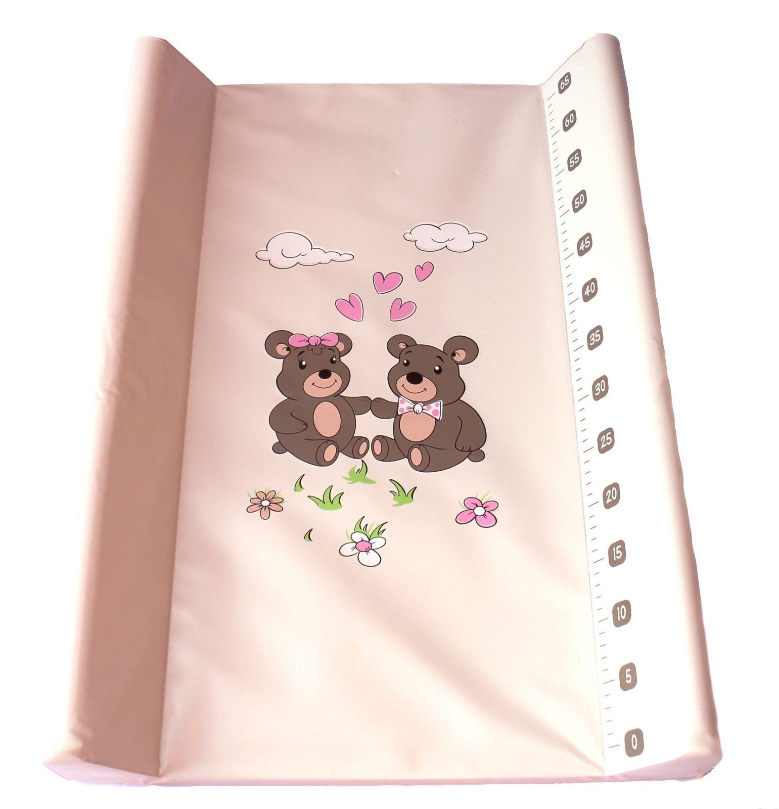 Přebalovací podložka Baby sky měkká 50x80 cm béžová medvídci