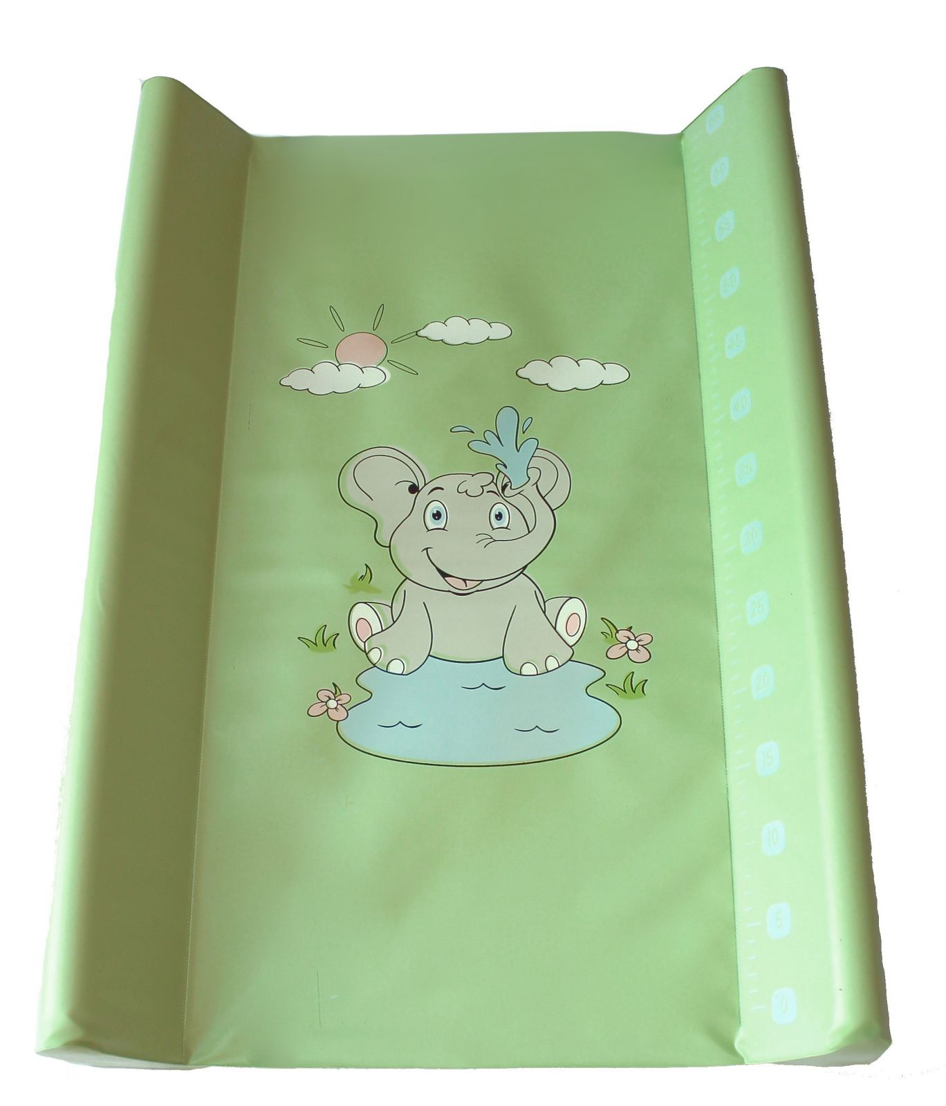 Přebalovací podložka Baby sky tvrdá 50x70 cm zelená sloník
