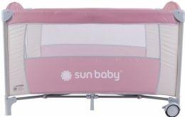 Cestovní postýlka Sunbaby Sweet dreams bez vložného lůžka SD707 růžová