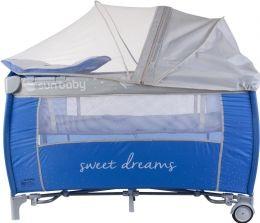 Cestovní postýlka Sunbaby Sweety s vložným lůžkem SD995 modrá