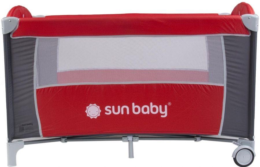 Cestovní postýlka Sunbaby Sweet dreams bez vložného lůžka SD707 červená